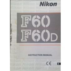 Nikon F60 F 60 D Instruction Manual